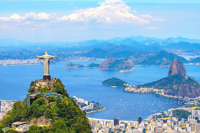 Foto panorâmica da cidade do Rio de Janeiro.