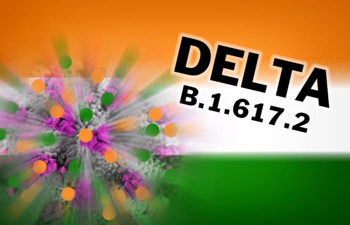 A variante delta foi identificada pela primeira vez na Índia.