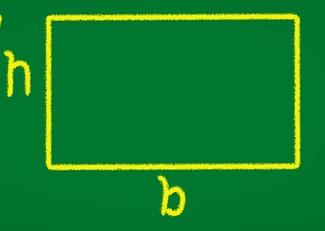 Retângulo desenhado em quadro-negro