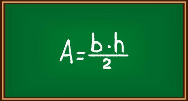 Fórmula para calculo da área de um triângulo