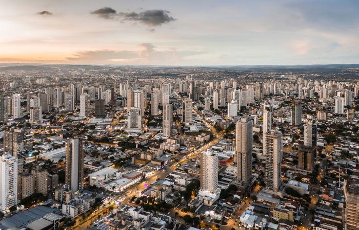Vista aérea de Goiânia, Goiás.