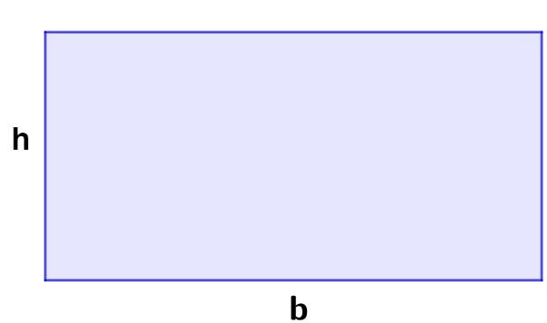 Retângulo de altura h e base b