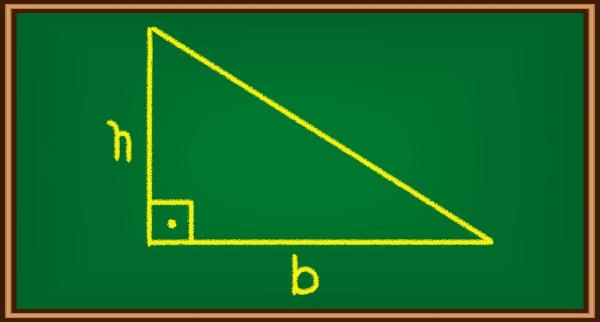 Triângulo desenhado em quadro-negro