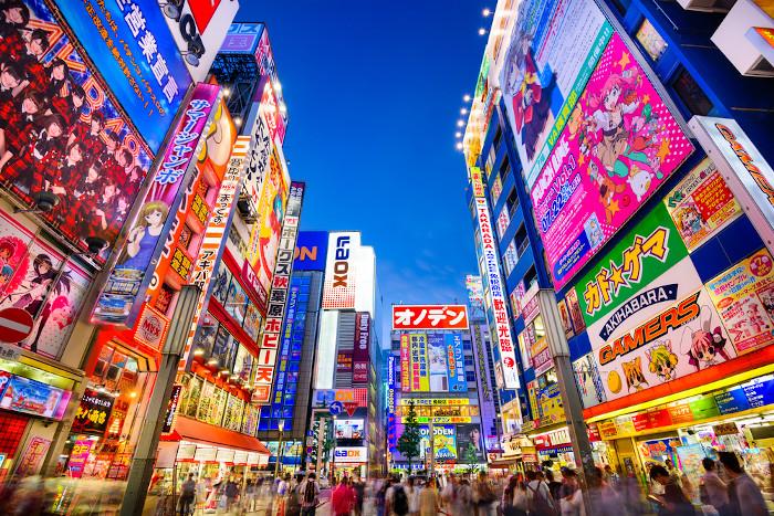 Vista da cidade de Tóquio, no Japão
