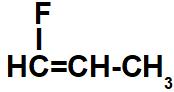 Fórmula estrutural do 1-flúor-propeno