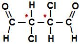 Fórmula estrutural do 2,3-dicloro-butanodial