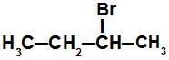 Fórmula estrutural do 2-bromo-butano