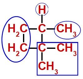 Quatro ligantes do carbono quiral da estrutura fechada