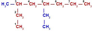 5 etil 3 metiloctano - Nomenclatura de Compostos Orgânicos em Passo a Passo