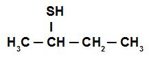 Fórmula estrutural do Butan-2-tiol