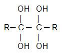 Fórmula geral de um diálcool-gemino vicinal