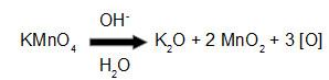 Equação da reação do reagente de Bayer em meio básico