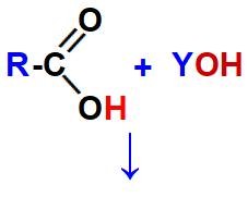 Reagentes necessários para a formação de um sal de ácido carboxílico.