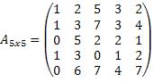 Matriz 5x5