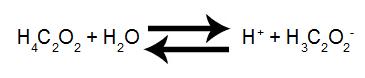 Equação de ionização do ácido acético