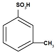 Estrutura de um ácido sulfônico aromático