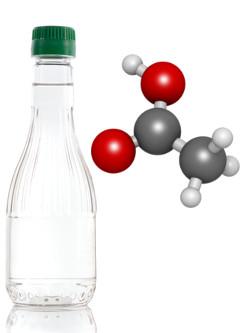 O vinagre é uma solução a 4% em volume de ácido etanoico ou ácido acético em média