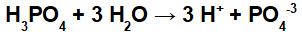 Equação de ionização do ácido fosfórico