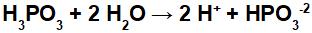 Equação de ionização do ácido fosforoso