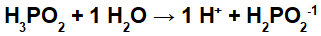 Equação de ionização do ácido hipofosforoso