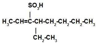 Estrutura de um ácido sulfônico insaturado