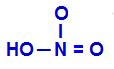 Fórmula estrutural do ácido nítrico