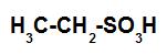 Estrutura de um ácido sulfônico saturado