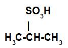 Exemplo da estrutura de um ácido sulfônico