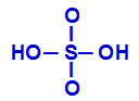 Fórmula estrutural do ácido sulfúrico