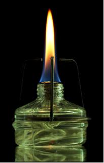 Álcool queimando – liberação de luz e calor
