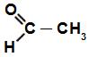 Fórmula estrutural do aldeído acético