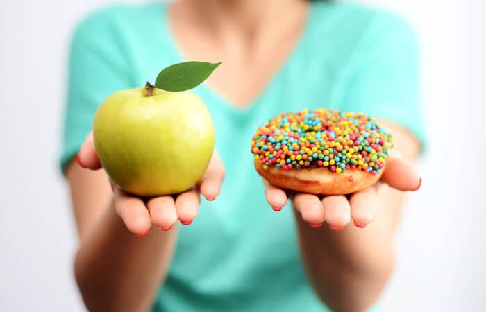 A escolha de uma alimentação saudável pode prevenir o diabetes.
