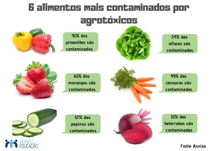 Alimentos contaminados por agrotóxicos