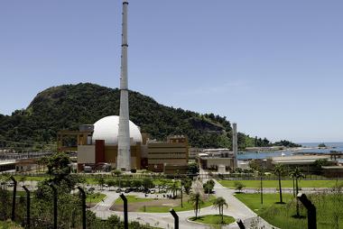 Usina Nuclear de Angra I no estado do Rio de Janeiro