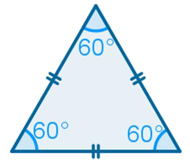 Ângulos de um triângulo equilátero