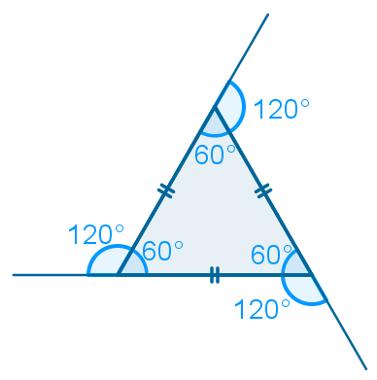 Ângulos externos do triângulo equilátero