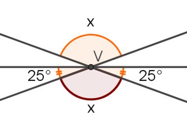 Ângulos opostos pelo vértice: solução 3
