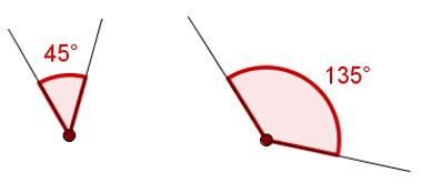 Ângulos cuja soma resulta em 180°