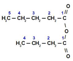 Fórmula estrutural do Anidrido butanoico-pentanoico