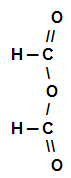 Fórmula estrutural do Anidrido metanoico