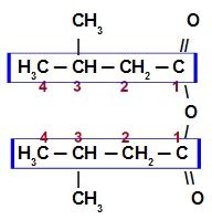 Fórmula estrutural do Anidrido 3-metil-butanoico