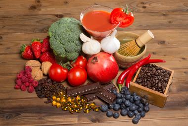 Alimentos que são fontes de antioxidantes