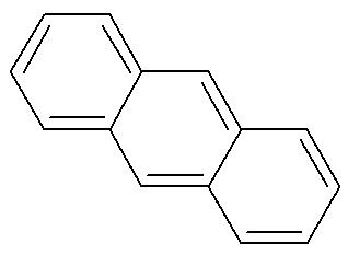 Fórmula estrutural do antraceno