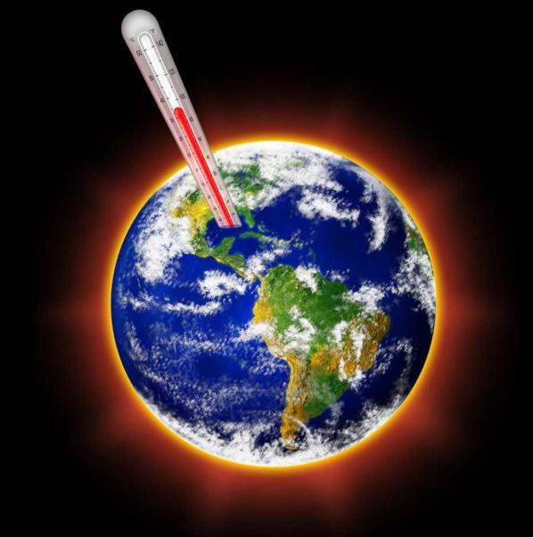 O aquecimento global representa o aumento das temperaturas médias do planeta.
