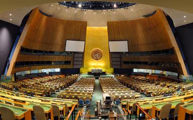 Espaço de realização da Assembleia Geral da ONU *