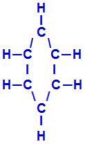 Fórmula estrutural de um benzeno
