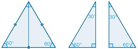 Bissetriz qualquer do triângulo equilátero