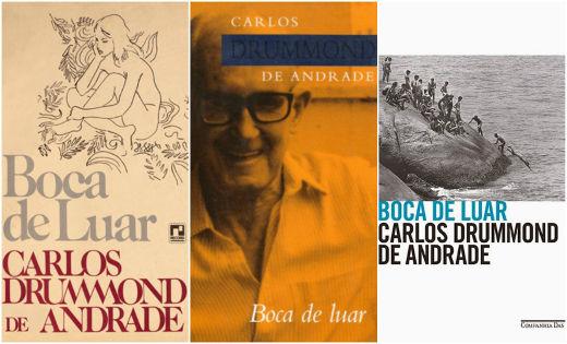 Três diferentes edições do livro Boca de luar, obra póstuma que reúne as melhores crônicas publicadas pelo Jornal do Brasil ***