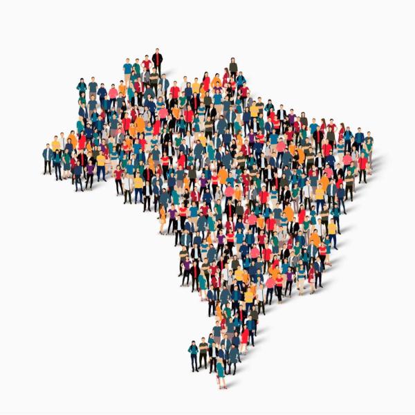 O Brasil é considerado um país populoso, mas é pouco povoado em decorrência da má distribuição da população pelo seu território.