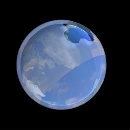 Ilustração de buraco na camada de ozônio causado por CFCs